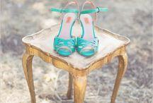 vintage aqua bridal shoes