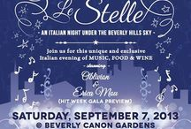 "StudiomusicaUSA ~ Sotto le stelle - Under the Stars  / Studiomusica USA ~ Italian Food Festival  - in celebration with Italian Independence in Italy ~ Sotto le Stelle"" (under the stars) is a celebration of food, wine,music and style in the real Italian tradition. For one Saturday night, the Beverly Canon Gardens will be transformed into an Italian piazza with wine lounge, little booths for items exposition, real Italian coffee and more! https://www.facebook.com/events/378690725592156/"