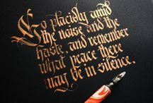 Calligraphy / A Pinterest board devoted to calligraphy