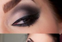 make up, stíny, ucesy