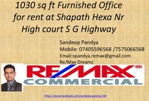 Furnished Office for Rent in Shapath Hexa SG Highway