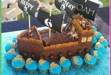 4 yr old pirate ship cake
