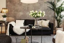 Feature tiled wall living room