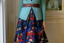 Closet - Fun Dress and Tights Combinations / Ideas for dresses and tights {not boho}