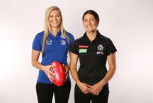 Womens AFL Gear / Women around Australia are breaking new ground to show the nation that it's not just a blokes' game. From Peta Searle's appointment last season at St Kilda becoming the first woman to join the coaching staff of an AFL Club – to the AFL's recent announcement of plans to have a national women's football league by 2017. So with all this going on, ShopAFL decided to showcase two rising stars of Women's football in their 2015 Winter photoshoot – Katie Brennan and Rebecca Privitelli