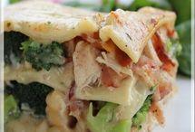 Lasagne au poulet et bacon