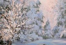 Landscape art - snow, winter