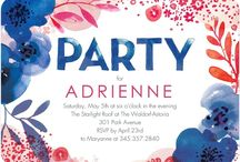 party invitations & graphic design / by Trisha Brunner