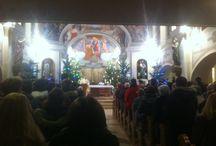 Éjféli szentmise a Pomázi Katolikus Templomban. / Éjféli szentmise a Pomázi Katolikus Templomban.