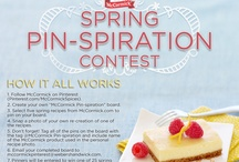 Spring Recipes & Ideas / http://www.mommyshangout.com/reviews/baking-with-mccormick/ / by Jennifer Williams