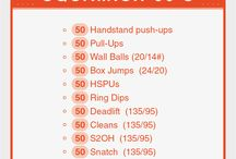 CROSSFIT WORKOUTS / At the open gym, in your garage or while you travel; here are some WOD ideas and workout inspiration to keep you moving.