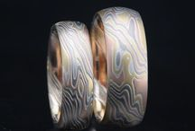 Mokume Wedding Bands - Ring Sets / Just like you and your special someone, a set of mokume Wedding Rings by James Binnion Metal Arts is absolutely perfect!  http://www.mokume-gane.com.