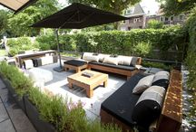 Outdoor lounge in private gardens