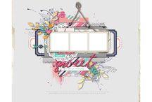 Skisser - scrapbooking og kort / En mengde skisser til layouts og kort