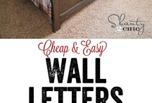 Letters for craft