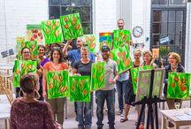 Painting Partys / Mal was Anderes! Spaß, Sekt und Malen, einfach online anmelden und ein Abend mit Musik und Schritt-für-Schritt Anweisungen ein eigenes Bild malen! www.paintingpartys.de