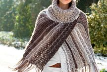 Poncho and knited staff