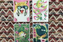 GREETING CARDS BY PAULIINA MÄKELÄ FOR KARTO / Fun vintage vibes in these animalistic greeting cards by Pauliina Mäkelä for Karto!