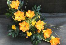kwiatowe kompoycje / wiązanki, wieńce, stroiki