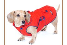 Dachshund Parkas! / Warm Blizzard Parkas with Thinsulate are perfect for keeping your doxie warm and dry this winter!  Designed to fit the broad chest and long and low body of your dachshund perfectly...handmade with love in the U.S.A.