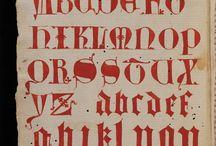 Calligrafia / Lettere e parole scritte a mano dall'antichità ai giorni d'oggi