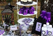 57 Ehrfürchtige purpurrote Halloween-Dekoration-Ideen