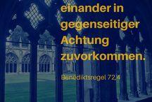 Logion / Für jeden Monat ein Zitat aus der Klosterregel der Benediktiner.