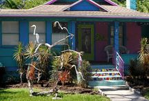 """The """"Dancing Birds"""" of The Dancing Crane Gallery / Bobbling birds for Your Yard and Garden PVC Very Durable Construction and Galvanized Stake"""