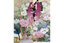 Papier peint portrait japonais / Portrait fille japonaise en kimono