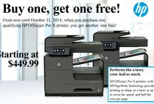 HP BUY ONE GET ONE - Through Oct 31st / Buy 1 select HP Printer from ImpactOffice get the 2nd Free.