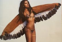 indian spirit / Indian feeling, leather, stones, feathers ...  Lot of feather, well i admitt i got a fetish about feathers <3 / by Oledie Hanouna