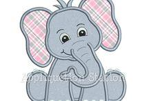 Aplique de elefante