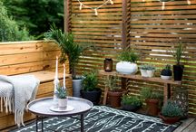 Deck, plants, fences