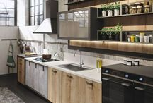 KEUKEN_industrieel / Door in de keuken te werken met robuuste materialen zoals beton, steen, metaal, hout, krijg je een industriële stoere look in de keuken.