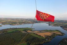 Atmosph'Air montgolfières occitanes Aveyron / Baptêmes en montgolfière au Lac de Pareloup - à la découverte des monts et lacs du Lévézou vus du ciel - situé dans l'Aveyron entre Rodez et Millau