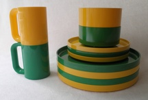 Plastic dishware from the 70's