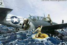 aircraft and dioramas