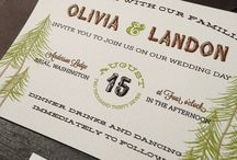 Woodland Wedding Inspiration / Growing up I always knew I wanted to get married in the forest! Inspiration and ideas for woodsy or woodland weddings