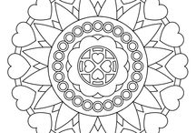 coloring pages - mandalas