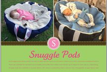 Snuggle Pod ( Baby Bean Bag) / Our Snuggle pods are just perfect for baby to safely recline in and can be used in indoors or out with a protective waterproof bottom!