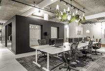 Idustrial office space / Idustrial and natural materials for office space