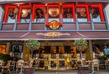 Hard Rock Cafe Paris / 14 Boulevard Montmartre,75009 Paris.  Metro 8/9 : Grands Boulevards 01 53 24 60 00