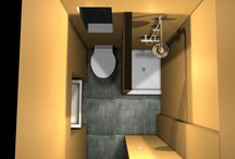 Interier 1 - izbového bytu / Návrh riešenia - poschodovej spálne a kúpelne