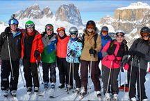 Skiing the Sella Ronda