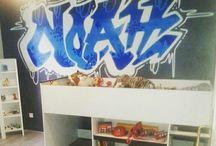 chambre graffiti
