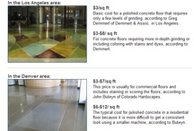Concrete Prices / Helpful concrete pricing information for general concrete costs associated with popular decorative concrete applications.  For more information visit ConcreteNetwork.com.