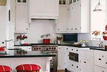 Red kitchen