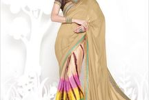 Bohemian Bonhomie / Bohemian is the new look for New Year party. Presenting digitally printed, colorful party Georgette Sarees from BlueKurta. Select from more than 15 designs.