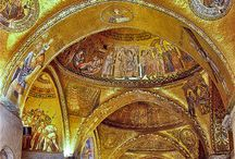 Byzantine Architecture / Herodian 37-4 BC (Judea), Early Christian 100-500 and  Byzantine Architecture (330-554). Byzantine designs influenced the European artistic revival in the form of Carolingian Art (750-900) and Ottonian Art (900-1050), which led into Romanesque and Gothic architecture.