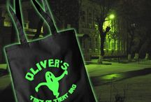 Spooky Gifts / Personalised gifts for Halloween, including Glow in the Dark bags, and Flip Tees